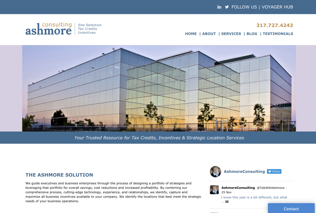 Ashmore Consulting homepage