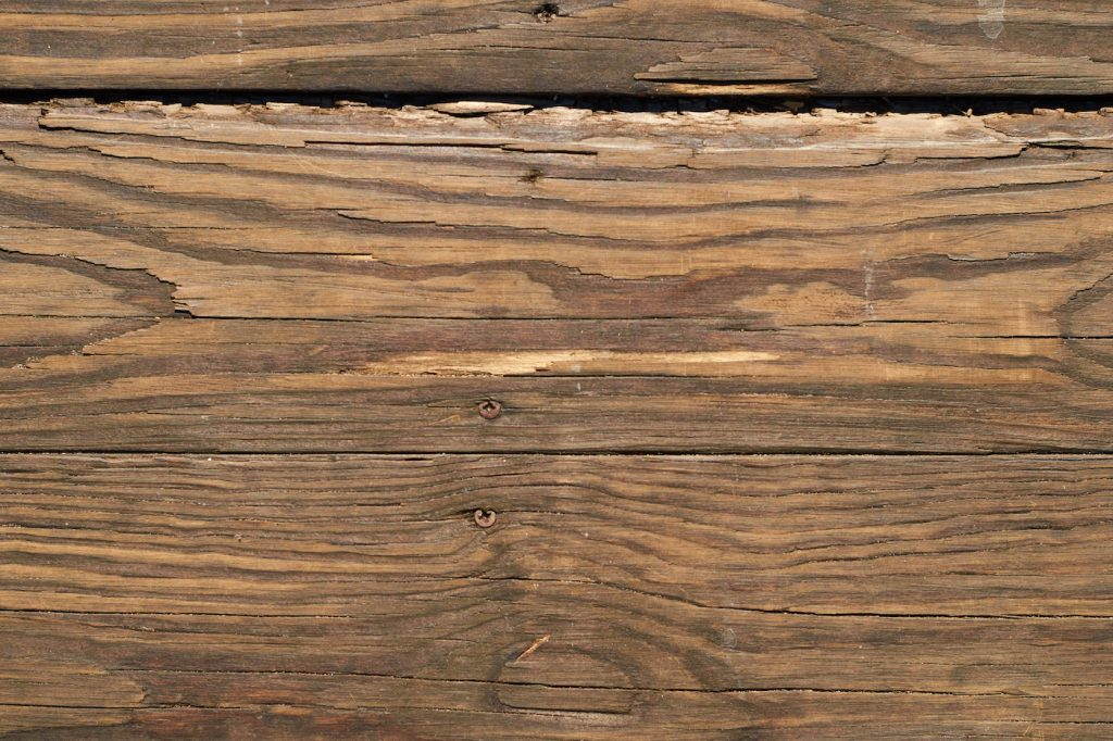 weathered wood building material